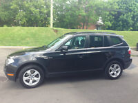2007 BMW Black X3 3.0si (black leather interior) - Fully loaded