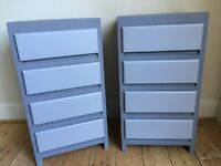 Upcycled spray-painted retro bedside units - UK delivery available