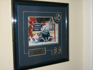 Hockey Mtl Canadiens Theodore Signed Framed Print + Bobblehead