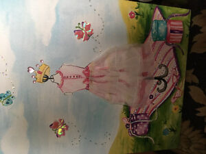 Beautiful princess painting suitable for a girls room