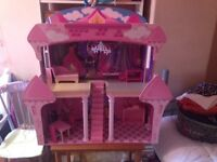 Dolls house Chad valley solid wood