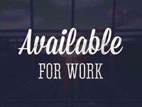 I am looking for full time permanent work in Croydon/ surrounding areas only.Flexible.Can start asap