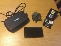 Nintendo DS lite black, case, charger and selection of games