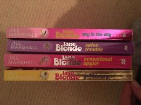 Set of four books in the Jame Blonde Series by Jill Marshall