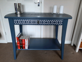 Upcycled, handpainted dressing table/desk