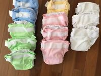 12 bumGenius! All-in-one cloth diapers (size large)
