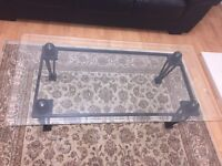 3 piece glass tables for sale