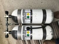 Twin set 10L Diving Cylinders with Slob Knob