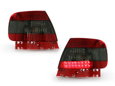 DEPO 1996-2001 AUDI A4 / S4 B5 CHASSIS 4DR SEDAN LED RED / SMOKE TAIL LIGHTS NEW