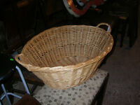 OLD WICKER LAUNDRY CLOTHES BASKETS $20 EACH !!