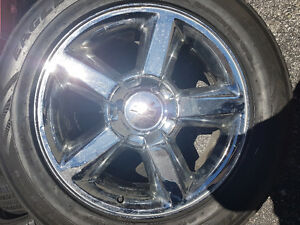 20 INCH OEM CHEV WHEEL AND TIRE PACKAGE