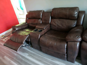 Sofa bercant 2 places divan fauteuil inclinable