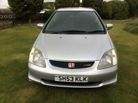 2003 53 Honda Civic 2.0i-VTEC Type R Petrol Silver 3 Door MOT March 2018.