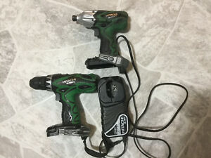 Nice Hitachi drill and driver set for sale.