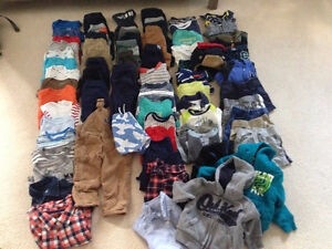 LOT OF BABY BOY CLOTHES SIZES 6-18 MONTHS