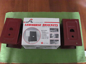 BRAND NEW -- Two Sets of Sawhorse Brackets