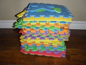 Soft foam mat with letters and numbers