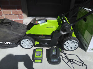 Barely Used Greenworks Cordless Lawn Mower for Sale!