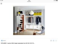 IKEA STOLMEN WARDROBE / STORAGE / RAILS / SHELVES