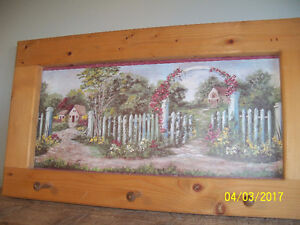 3 Hook Coat hanger with country scenery painting almost free