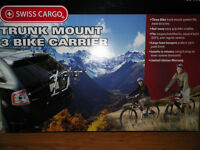 Swiss Cargo bike rack carrier holds 3 bikes New in Box