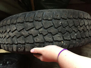 4 studded winter tires on rims St. John's Newfoundland image 2