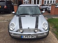 2003 Mini One . Cooper s alloys and extras.1 years mot