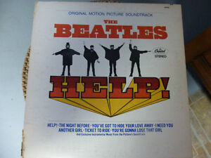 DISQUE VINYLE (THE BEATLES HELP)