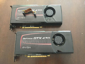 Two GTX 470 EVGA video cards for sale