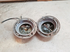 1953 Ford F-100 headlight buckets.