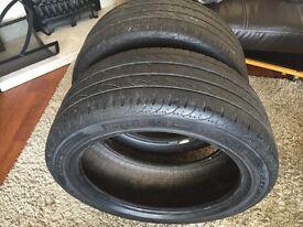 """2x 17"""" PIRELLI P-ZERO NERO car tyres"""