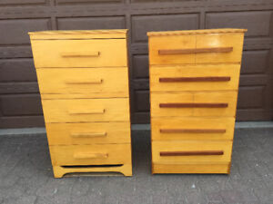 PAIR OF COMPACT DRESSERS /VERY CUTE AND 5 DRAWERS EACH