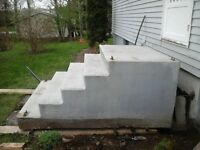 Pretty cast cement steps