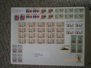 vintage stamps uncancelled on original mail