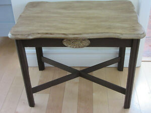 So pretty!.. distressed side table or night table.