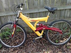 tech team split frame mountain bike for 25