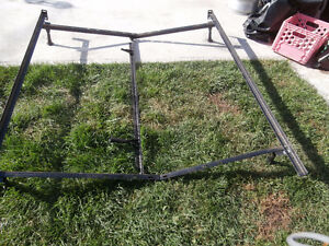 """1 bed frame steel for single 39""""& double 54 ou Queen 60 $45  one"""