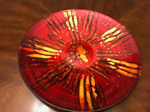 Decorative glass feature plate - Pier 1