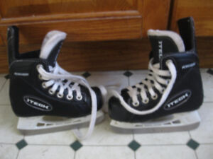 2 Pair of Boys Bauer Hockey Skates