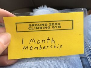One month membership for ground zero rock climbing gym