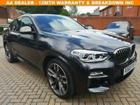 2018 68 BMW X4 3.0 M40D 4D 322 BHP DIESEL