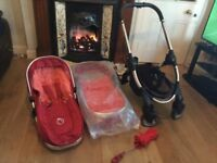 iCandy Peach2 Tomato Red Pram and Pushchair