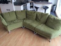 Corner Sofa green