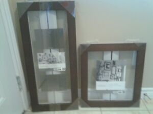 brand new float glass and wood picture frames