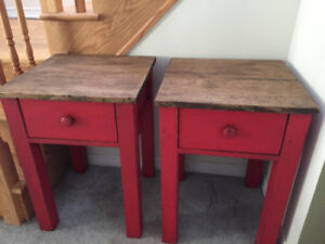 Custom Harvest Sofa Coffee Console End Tables & Nightstands