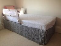 Single/double bed with spare guest bed underneath wihch makes a large double.