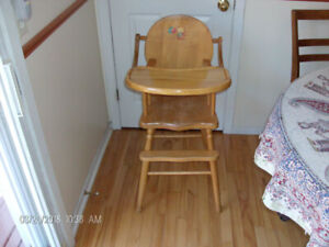 Baby's Maple High Chair for Sale