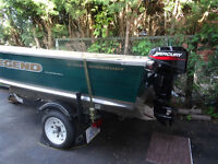 2007 14.65' Legend Fishing Boat w/trailer and motor