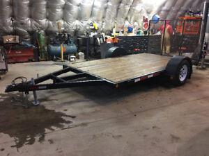 Trailtech 6x12 cargo /utility trailer c/w 3500 Lb axle & ramp .