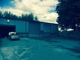 Large workshop and secure yard to let in strathaven